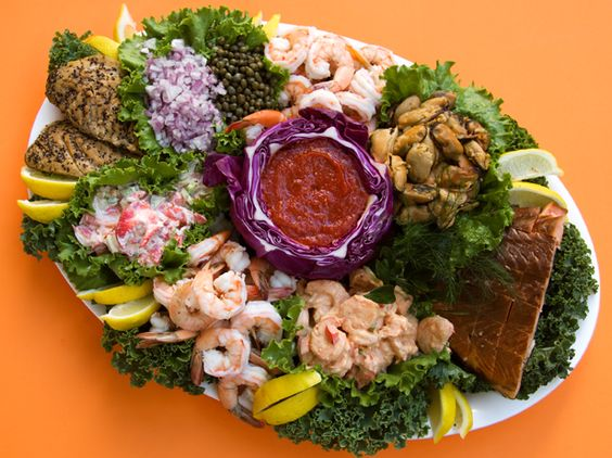 Seafood platter | Wedding reception and fun party food | Pinterest ...