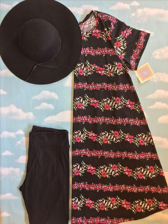 Carly dresses are perfect for summer. This one is especially beautiful!  Shown here with TC Leggings. #walnutcreek #lularoeleggings #lularoecarly #hat #flatlay #lularoeflatlay #lularoemelindacorr #teamclosetenvy #teamunicornwranglers @lularoe