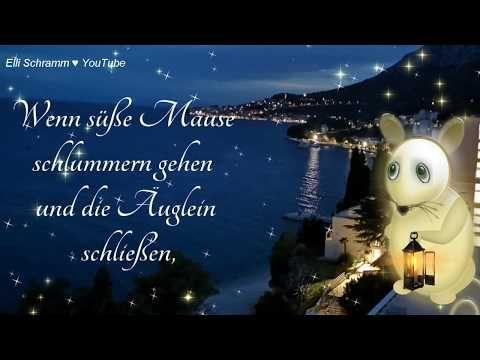 Am Abend Leuchten Die Sterne Youtube Gute Nacht Grusse Nacht Grusse Gute Nacht