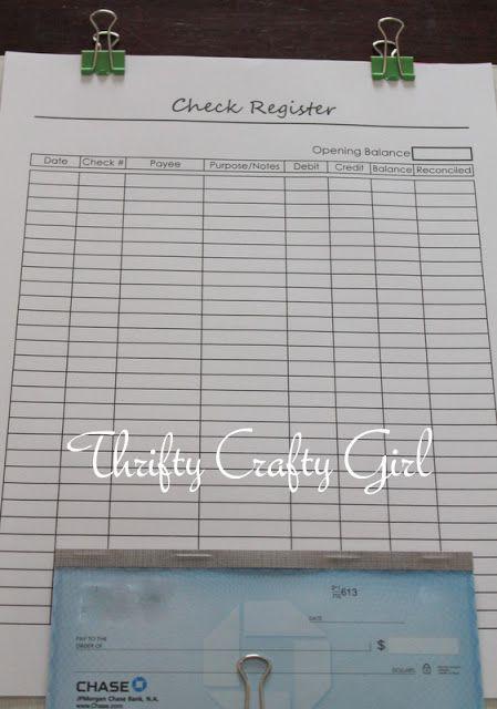 budget binder  checkbook register and budget on pinterest