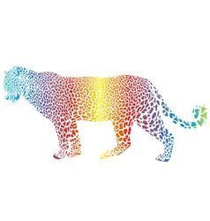 abstract rainbow leopard vector