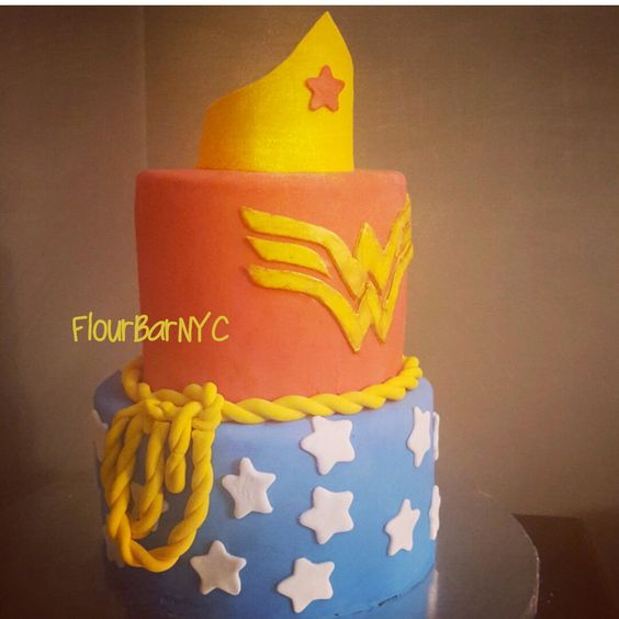 Wonder woman cake. Valrhona chocolate cake with oreo cookie buttercream...