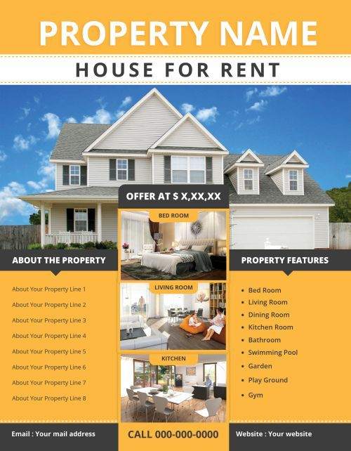 8 House For Rent Flyers Effective Way To Rent Out A House