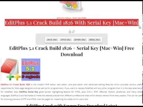 Editplus 5 1 Build 1826 With Serial Key Mac Win Latest
