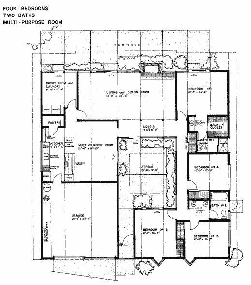 Joseph Eichler floor plans   Eichler Real Estate   Courtyard    Joseph Eichler floor plans   Eichler Real Estate