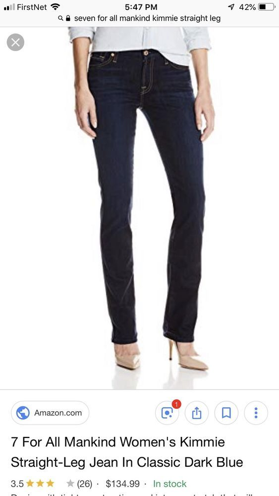 7 For All Mankind Kimmie Straight Fashion Clothing Shoes