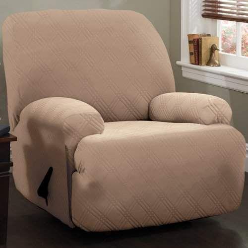 Red Barrel Studio Double Diamond Stretch Sensations Box Cushion Recliner Slipcover Slipcovers For Chairs Recliner Slipcover Slipcovers