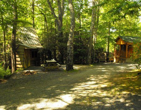 Linville falls campground trailer lodge cabin rentals for Fishing cabins in nc