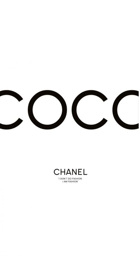 iPhone 5 Wallpaper Coco Chanel Chanel Pinterest