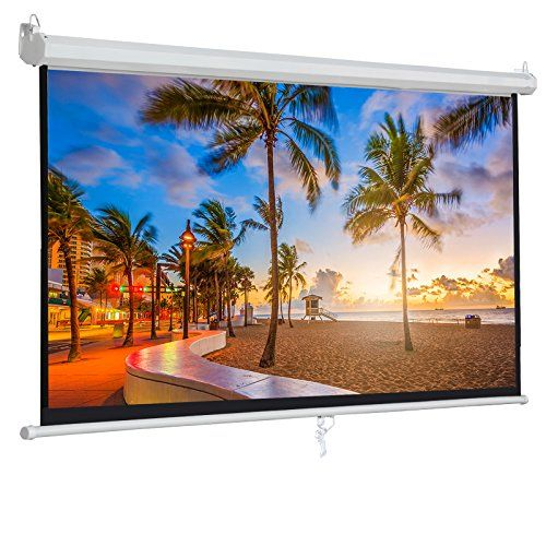 Bbbuy 100 Projector Screen Manual Pull Down 100 Inch Diagonal Widescreen Indoor Home Theater Cinema Platform 16 9 Aspect Ratio Projection Screen Projection Screen Projector Screen Pull Down Projector Screen