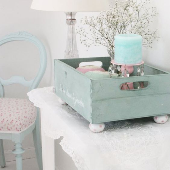 pastel blue decor