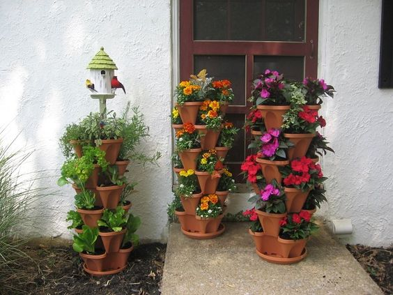 Stacking Planters with Watering System
