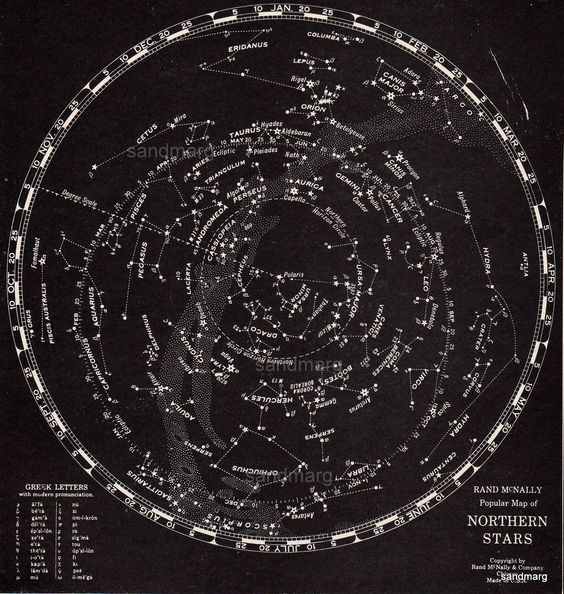 Rand Mcnally Star Chart Northern Hemisphere   Science