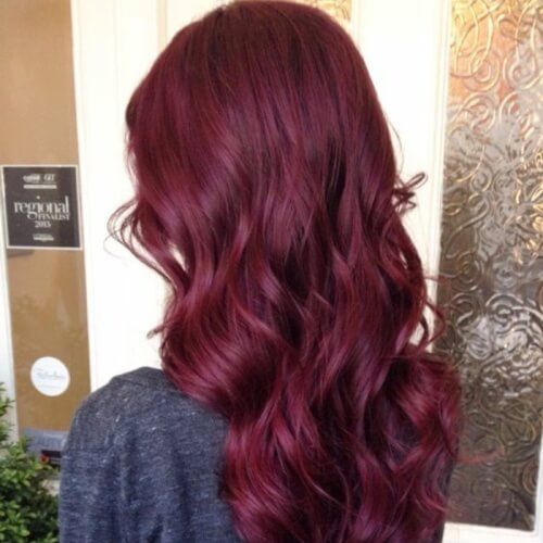 50 Beautiful Plum Hair Color Ideas With Images Black Cherry Hair Color Hair Color Plum Burgundy Hair