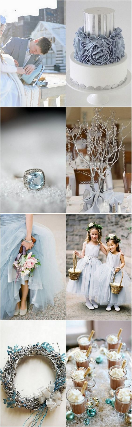 Winter Wonderland - Ice Blue & Silver Wedding Palette | weddingsonline