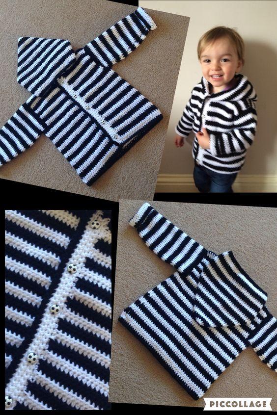 Boys crochet hoody free pattern. ⚽️:
