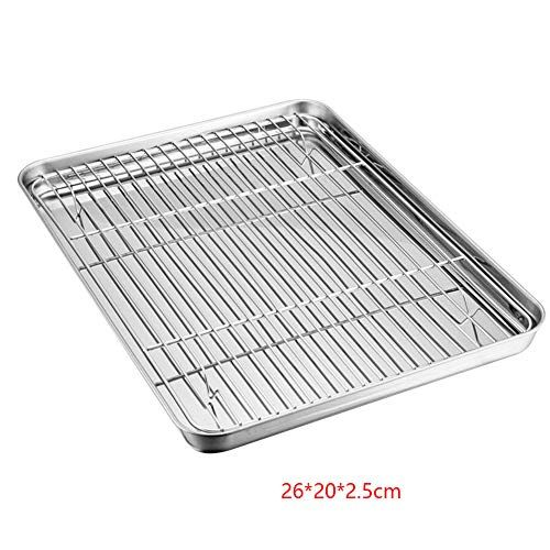 Baking Tray With Rack Set Stainless Steel Baking Sheet Pan With