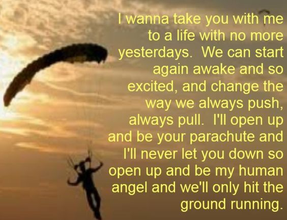 Parachute musical lyrics