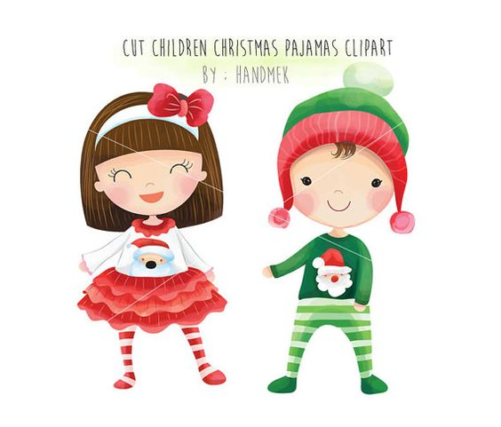 Christmas pajamas, Cute Christmas, Christmas children Clipart ...
