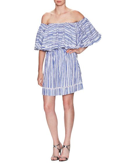 Washed Stripe Voile Frill Mini Dress by NICHOLAS at Gilt #resortwear