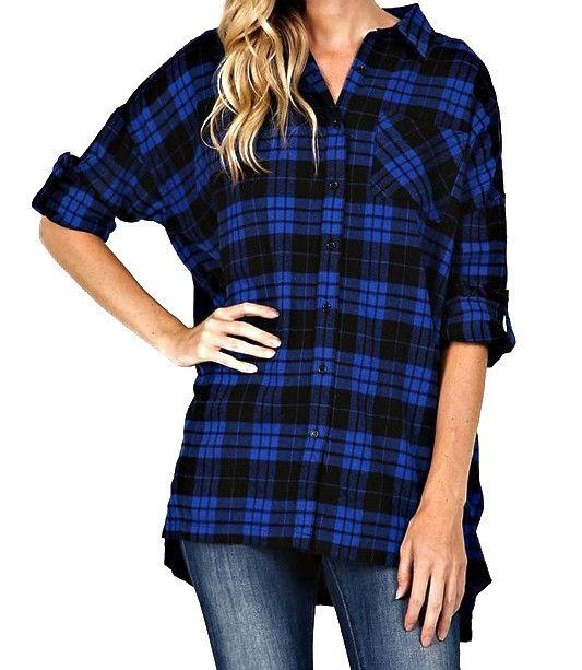 Ashley Plaid Flannel Tunic