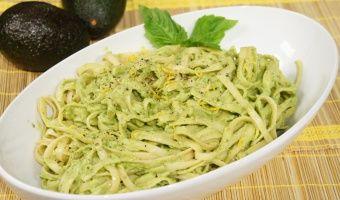 Avocado Fettuccine #pasta #avocado