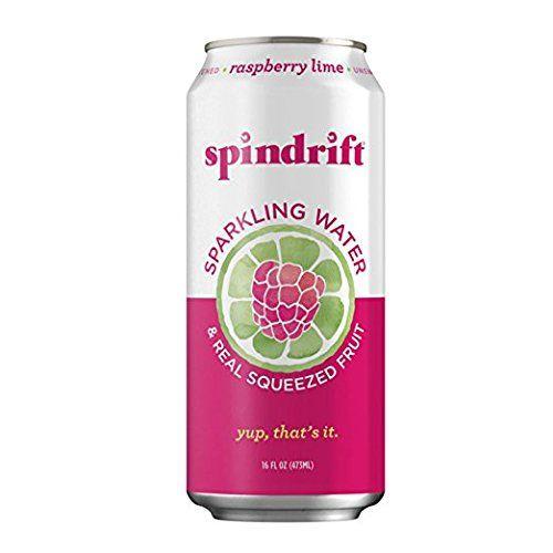 Spindrift Raspberry Lime Sparkling Water 16 Fluid Ounce Cans Pack Of 12 Raspberry Sparkling Water Canning