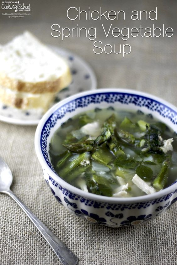 ... chicken and spring vegetable soup brings the flavors of spring into