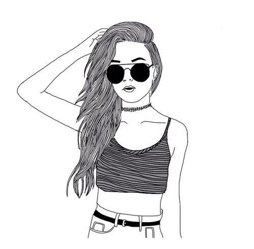 Line Drawing Girl : Tumblr grunge line art google search pinterest