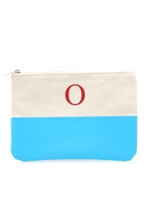 Cathys Concepts  PERSONALIZED AQUA DIPPED CANVAS CLUTCH-O-DS