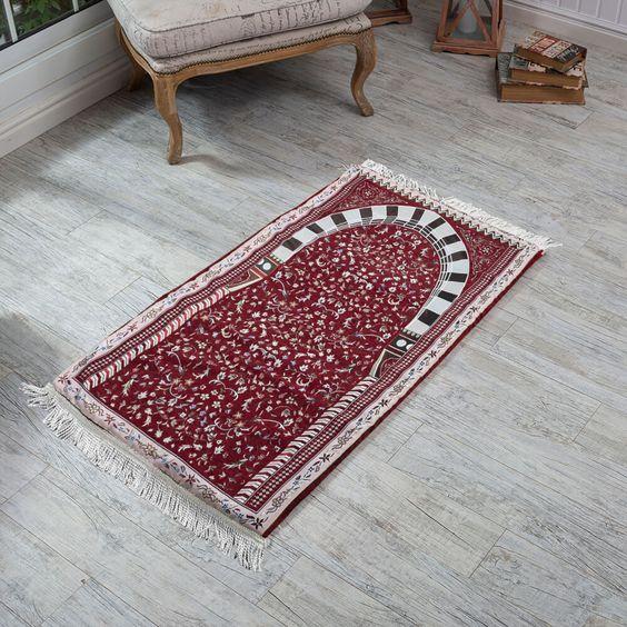 سجادة صلاة فوم مشجر لون عنابي Bohemian Rug Rugs Carpet