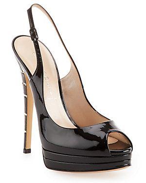 Casadei Patent Leather Slingback Sandal