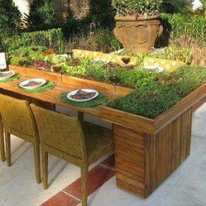 Salad bar table