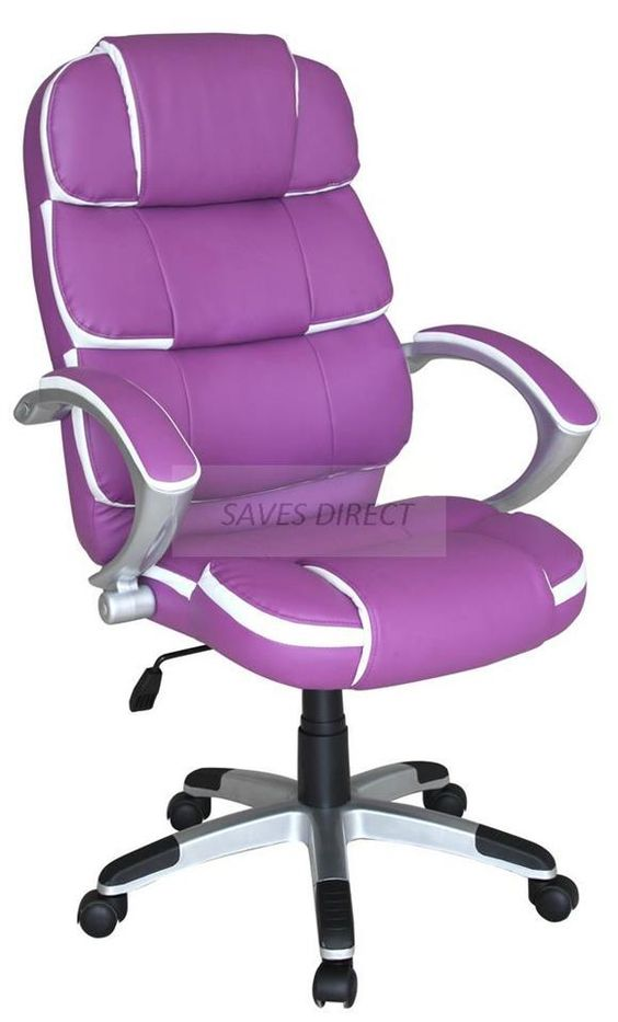New Luxury Swivel Executive Computer Office Chair K8363 Purple Office Purple Furniture Purple Home