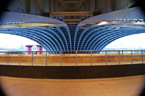 Underneath Blackfriars Bridge London