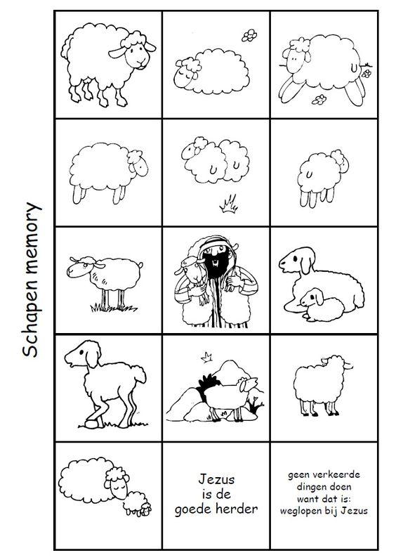 schapen memory spel jezus is de goede herder nt
