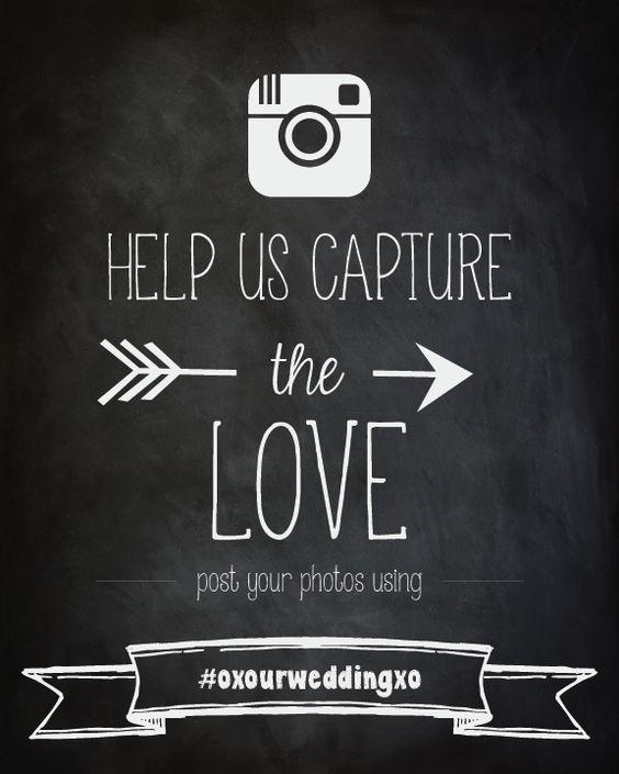 Instagram Wedding Sign | Wedding Hashtag