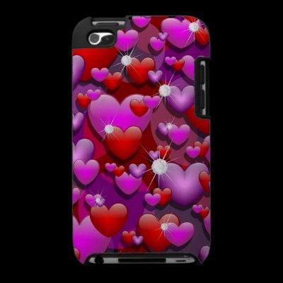 #Hearts #Love and #Diamonds #Ipod Touch 4g #Cases © #Bluedarkat - on #Zazzle!