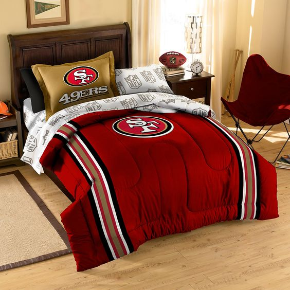 San Francisco 49ers NFL Bed in a Bag (Contrast Series)(Twin)