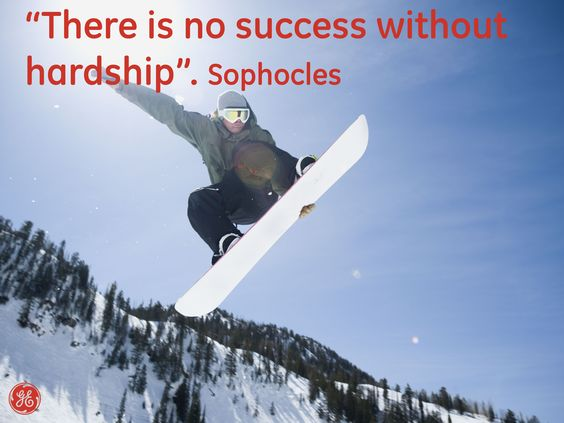 There is no success without hardship #Quotes #GEHealthcare