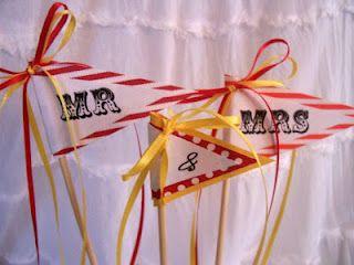 wedding cupcake toppers / circus