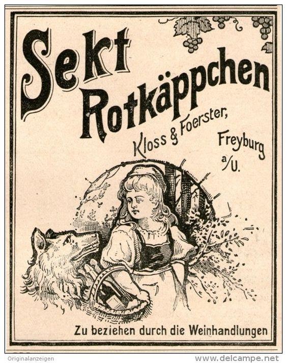 Original-Werbung/Inserat/ Anzeige 1899 : ROTKÄPPCHEN-SEKT ca. 90 x 100 mm