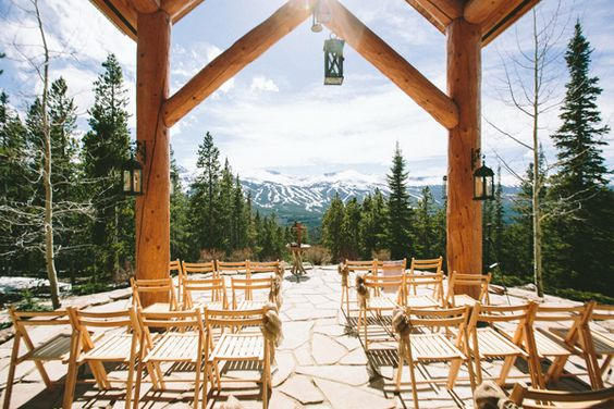 {rubywood house | breckenridge, co} gorgeous oudoor ceremony space for a small wedding.