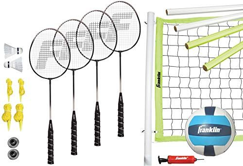 New Franklin Sports Advanced Badminton Volleyball Combo Set Online Shopping Newtopgoods Volleyball Set Badminton Set Badminton