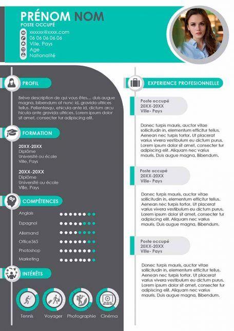 Modele De Cv Original Gratuit A Telecharger Au Format Word Telecharger Modele Cv Modele Cv Gratuit Cv Gratuit