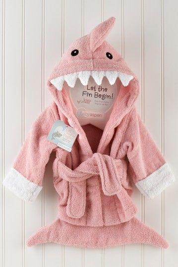 Let the Fin Begin Terry Shark Robe - Pink on HauteLook