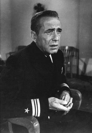 "Humphrey Bogart in ""The Caine Mutiny""."