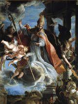 """Claudio Coello Obra: """"The Triumph of  St. Augustine"""""""