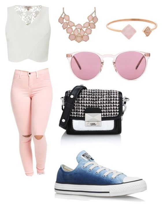 """""""Shopping day"""" by lovertje-2201 ❤ liked on Polyvore featuring Lipsy, Converse, Karl Lagerfeld, Michael Kors and Oliver Peoples"""