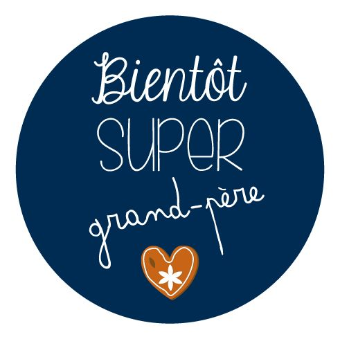 badge cadeau annonce grossesse super grand pere produits et technologie badges et illustrations. Black Bedroom Furniture Sets. Home Design Ideas